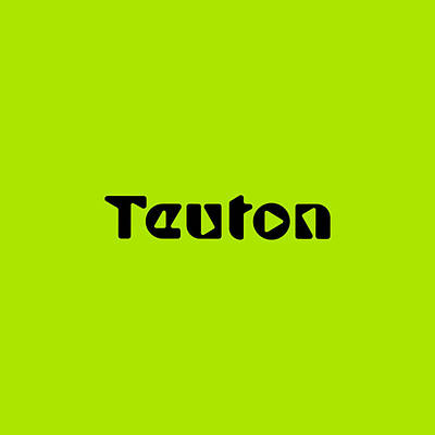 Royalty-Free and Rights-Managed Images - Teuton #Teuton by TintoDesigns