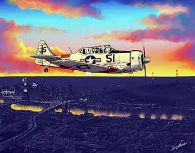 Digital Art - Texan Sunset by Barry Munden