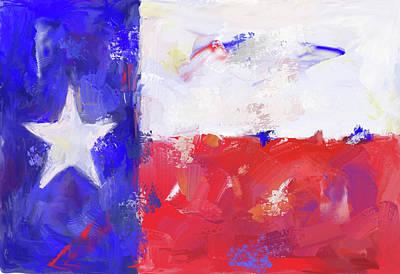 Digital Art - Texas Flag by Doug Simpson