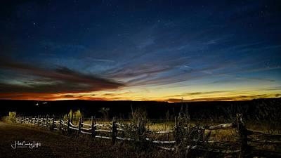 Photograph - Texas Twilight - Contigo Ranch by Miguel Lecuona