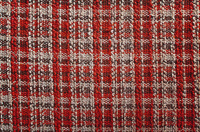 School Teaching - Texture of red tartan fabric useful as a background by Julien