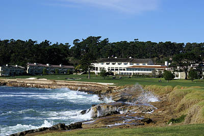 Sports Royalty-Free and Rights-Managed Images - The 18th At Pebble Beach by Barbara Snyder