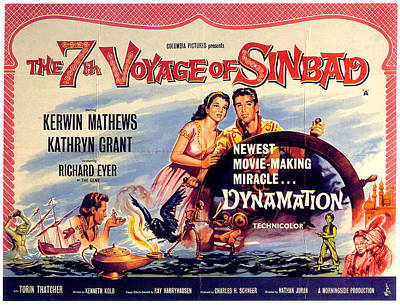 Mixed Media Royalty Free Images - The 7th Voyage of Sinbad poster Royalty-Free Image by Stars on Art