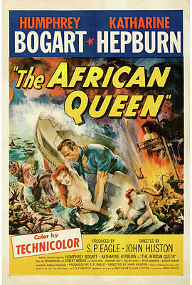 Mixed Media Royalty Free Images - The African Queen poster 1952 Royalty-Free Image by Stars on Art