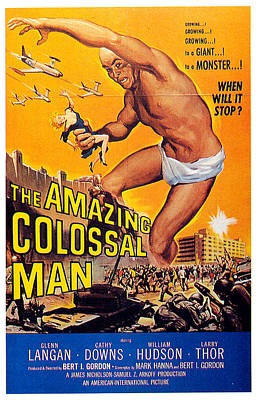Royalty-Free and Rights-Managed Images - The Amazing Colossal Man movie poster 1957 by Stars on Art