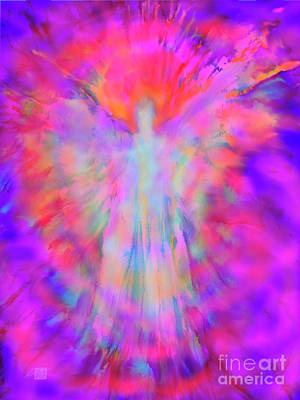 Painting - The Angel of Inner Strength and Beauty by Glenyss Bourne