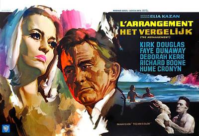 Mixed Media Royalty Free Images - The Arrangement, with Kirk Douglas and Faye Dunaway, 1969 Royalty-Free Image by Stars on Art
