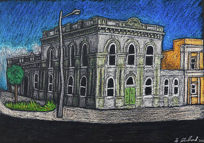 Drawings Royalty Free Images - The Bank - Hamilton, New Zealand Royalty-Free Image by Stuart Clifford