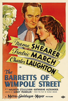 Royalty-Free and Rights-Managed Images - The Barretts of Wimpole Street, with Norma Shearer and Fredric March, 1934 by Stars on Art