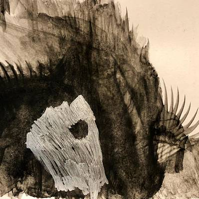 Recently Sold - Animals Drawings - The Battle is Never Done by Fallon Franzen