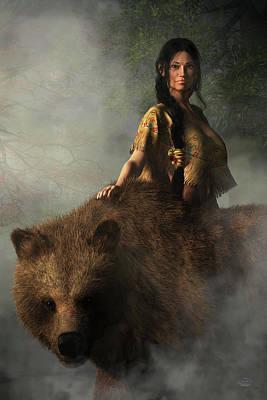 Recently Sold - Animals Digital Art - The Bear Wife by Daniel Eskridge