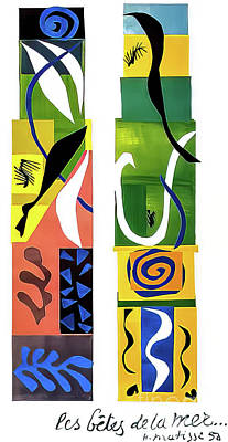 Clouds Rights Managed Images - The Beasts of the Sea by Henri Matisse 1950 Royalty-Free Image by Henri Matisse