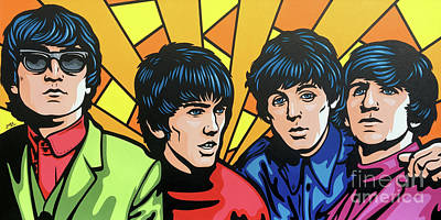 Painting - The Beatles by James Lee