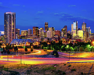 Royalty-Free and Rights-Managed Images - The Beautiful and Vibrant Denver Skyline by Gregory Ballos