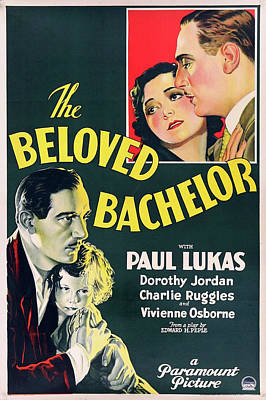 Mixed Media Royalty Free Images - The Beloved Bachelor movie poster 1931 Royalty-Free Image by Stars on Art