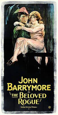 Mixed Media Royalty Free Images - The Beloved Rogue, with John Barrymore, 1927 Royalty-Free Image by Stars on Art