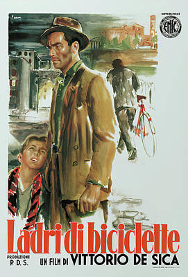 Royalty-Free and Rights-Managed Images - The Bicycle Thieves, 1948 by Stars on Art