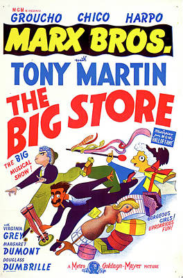 Mixed Media Royalty Free Images - The Big Store, with the Marx Brothers, 1941 Royalty-Free Image by Stars on Art