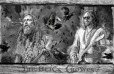 Mixed Media Royalty Free Images - The Black Crowes Royalty-Free Image by Mal Bray