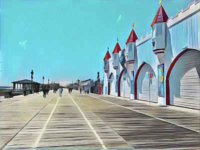 Surrealism Royalty-Free and Rights-Managed Images - The Boardwalk during Fall by Surreal Jersey Shore