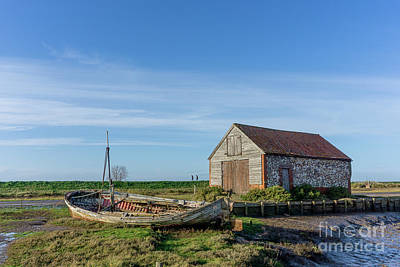 Royalty-Free and Rights-Managed Images - The Boat and Coal Barn at Thornham Staithe by John Edwards