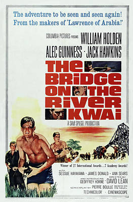 Word Signs - The Bridge on the River Kwai poster 1957 by Stars on Art
