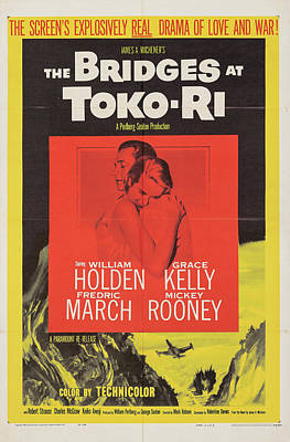 Royalty-Free and Rights-Managed Images - The Bridges at Toko-Ri poster 1959 by Stars on Art