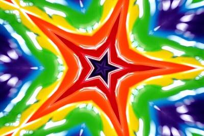 Mixed Media Royalty Free Images - The Brightest Star Royalty-Free Image by Al Terego