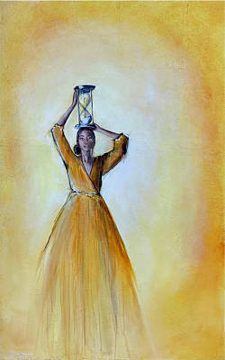 Painting - The Burden of Time by Nancy Hilliard Joyce