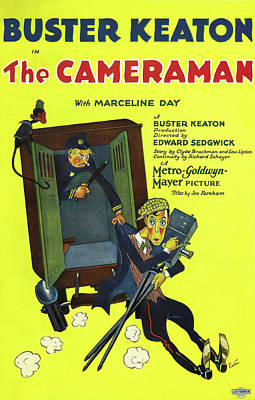 Halloween Movies - The Cameraman - 1928 by Stars on Art