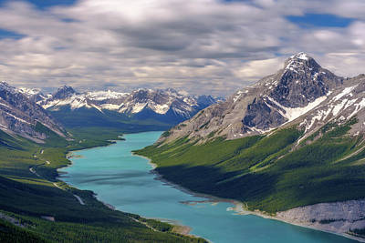 David Bowie Royalty Free Images - The Canadian Rockies, Alberta, Canada Royalty-Free Image by Yves Gagnon