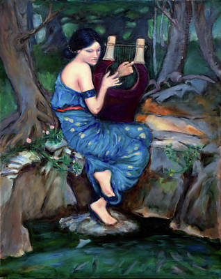 Painting - The Charmer - after Waterhouse by Linda Falorio