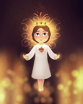 Digital Art - The Child Jesus by Amy Rodriguez