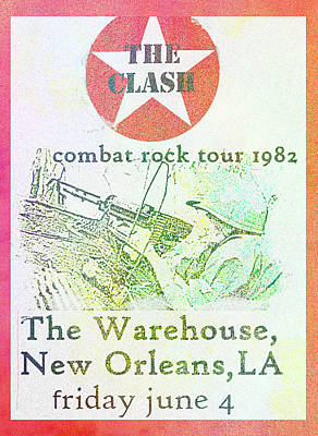 Painting Royalty Free Images - The Clash New Orleans 1982  Royalty-Free Image by Enki Art