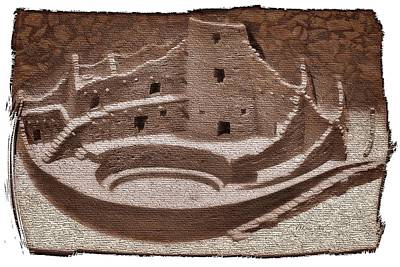 Airplane Paintings - The Cliff Dwellers Legends Of AmericaInspired by Mesa Verde Na by OLena Art - Lena Owens