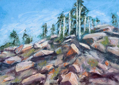 Painting - The Climb by Mary Benke