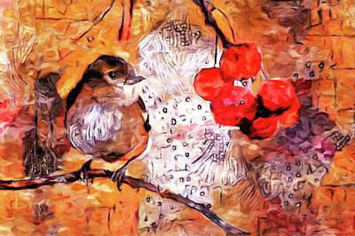 City Scenes - The Content Sparrow by Susan Maxwell Schmidt