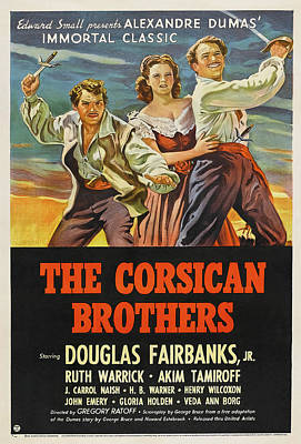 Royalty-Free and Rights-Managed Images - The Corsican Brothers, with Douglas Fairbanks, Jr. 1941 by Stars on Art
