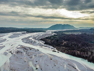 Surrealism Royalty Free Images - The course of the Tagliamento river Royalty-Free Image by Nicola Simeoni