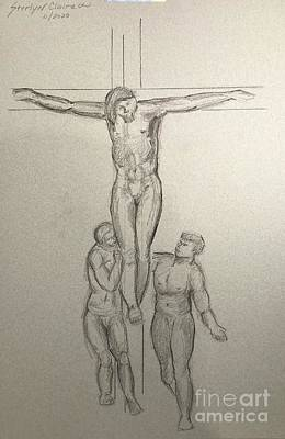 Just Desserts - The Crucifixion with the Virgin and St. Peter by Sterlyn Richard