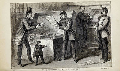 Drawings Royalty Free Images - THE CUSTOMS OF THE COUNTRY i1 Royalty-Free Image by Historic illustrations