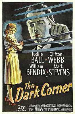 Personalized Name License Plates - The Dark Corner, with Lucille Ball and Clifton Webb, 1946 by Stars on Art