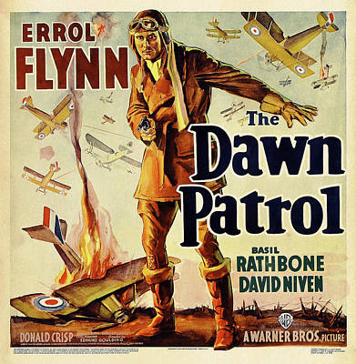 Personalized Name License Plates - The Dawn Patrol, with Errol Flynn, 1938 by Stars on Art
