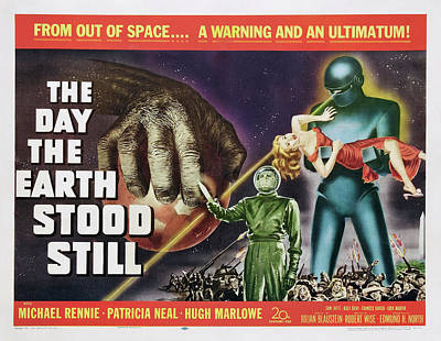 Moody Trees - The Day the Earth Stood Still 3, with Patricia Neal, 1951 by Stars on Art
