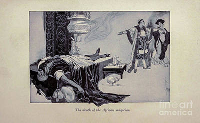 Drawings Royalty Free Images - The Death of the African Magician i1 Royalty-Free Image by Historic illustrations