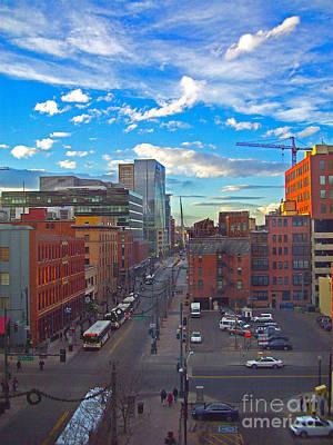 Photograph -  The Denver Hustle by Sherry Little Fawn Schuessler