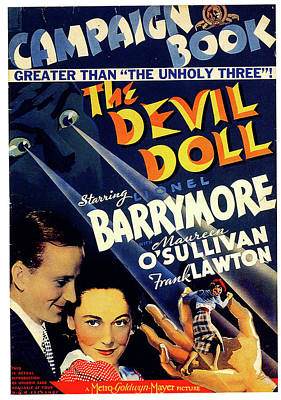 Mixed Media Royalty Free Images - The Devil Doll movie poster 1936 Royalty-Free Image by Stars on Art