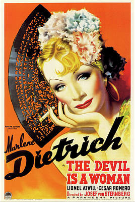 Royalty-Free and Rights-Managed Images - The Devil is a Woman movie poster 1935 by Stars on Art