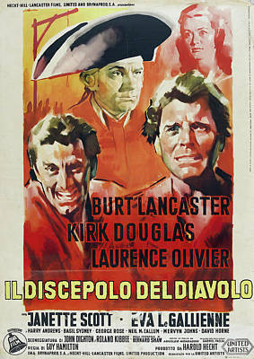 Royalty-Free and Rights-Managed Images - The Devils Disciple, with Burt Lancaster and Kirk Douglas, 1959 by Stars on Art