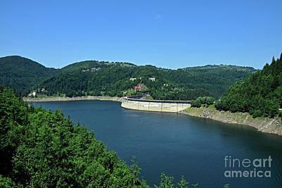 Old Masters Royalty Free Images - The Dragan lake behind the dam Royalty-Free Image by Tibor Tivadar Kui